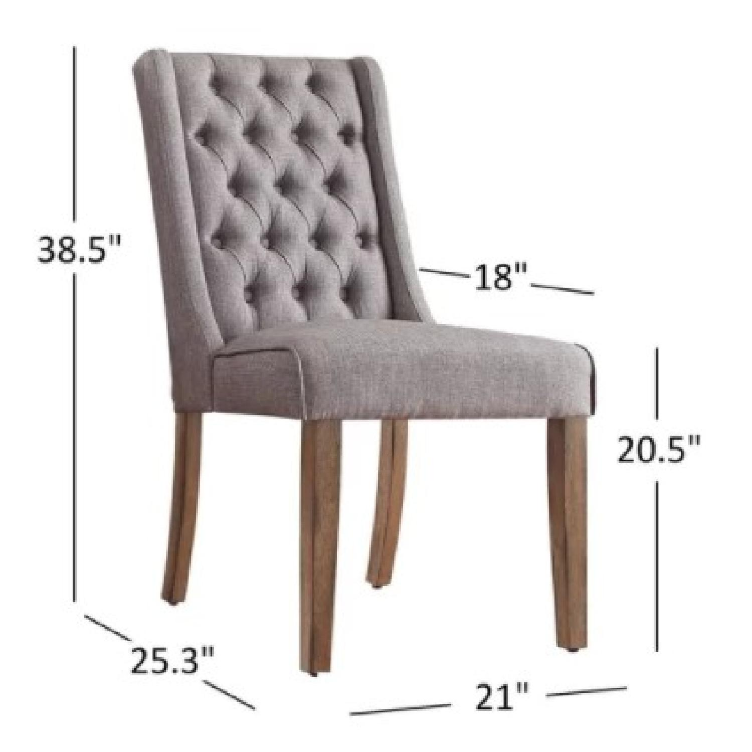 InspireQ Tufted Wingback Linen Dining Chairs