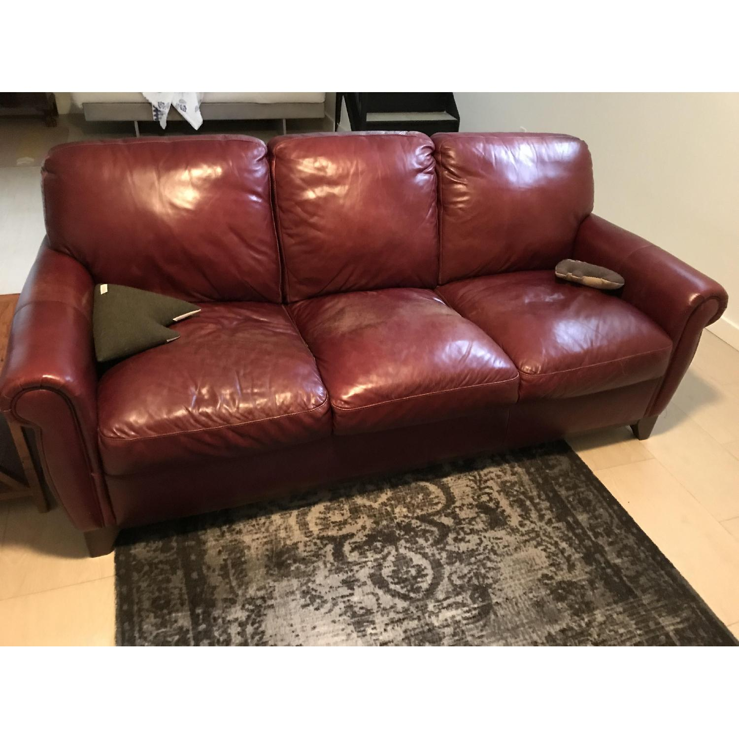 raymour flanigan jackson dark brown leather sofa 1 - Dark Brown Couch