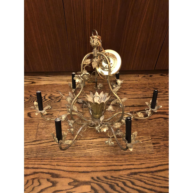 Vintage Brass Floral Chandelier