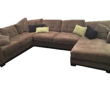 Jonathan Louis Furniture Grey Sectional Sofa