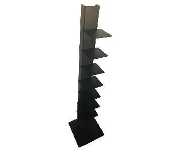 Black Metal Floating Book Tower