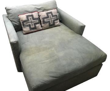 Crate & Barrel Lounge II Petite Chaise