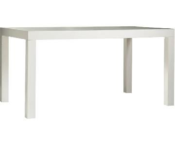 West Elm Parsons White Lacquer Dining Table