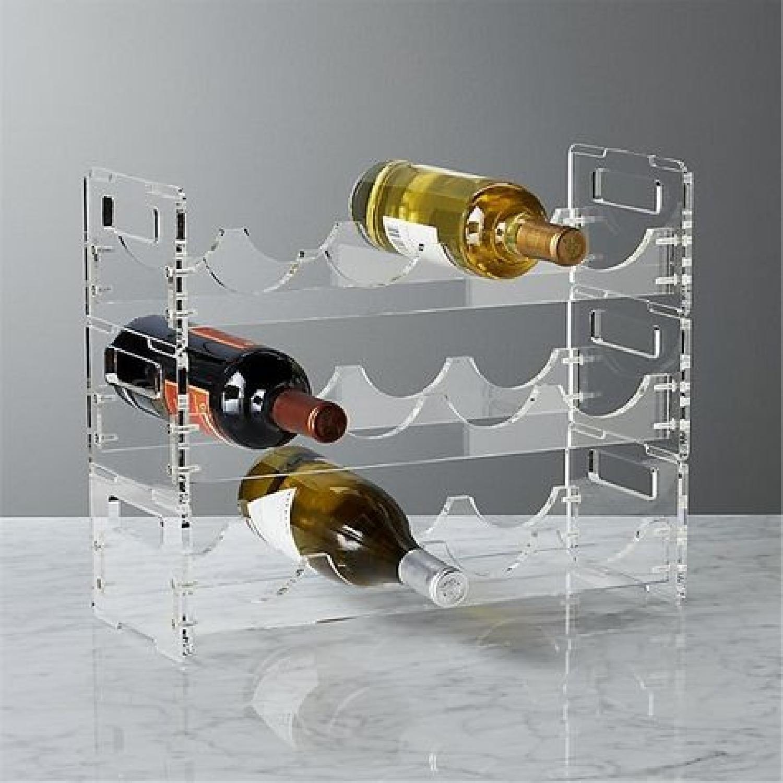 CB2 Acrylic Wine Rack Set of 2