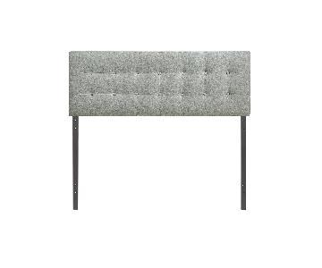 LexMod Upholstered Gray Linen Headboard