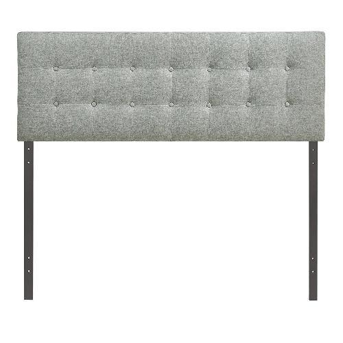 Used LexMod Upholstered Gray Linen Headboard for sale on AptDeco