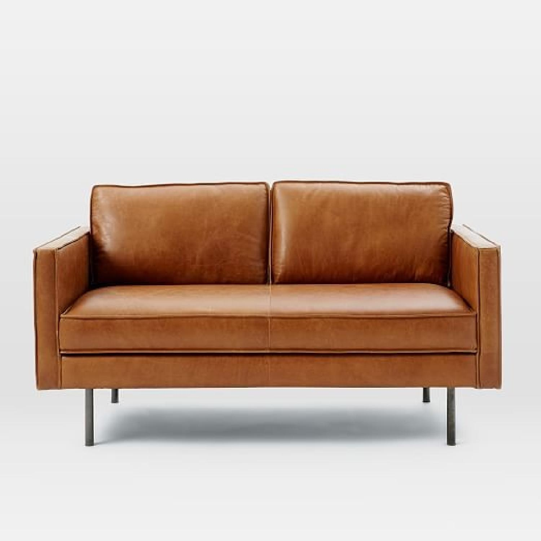 West Elm Axel Leather Sofa - image-2