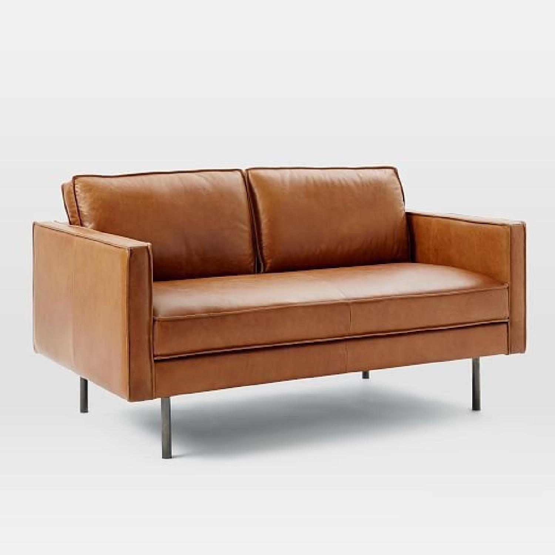 West Elm Axel Leather Sofa - image-3