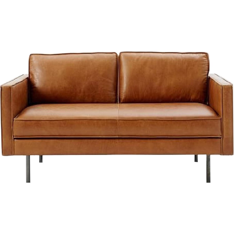 West Elm Axel Leather Sofa - image-0