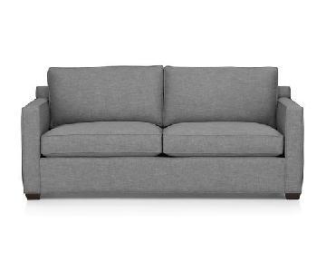 Crate & Barrel Davis Sofa in Ash