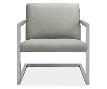 Room & Board Lira Lounge Chair in Grey/Stainless Steel
