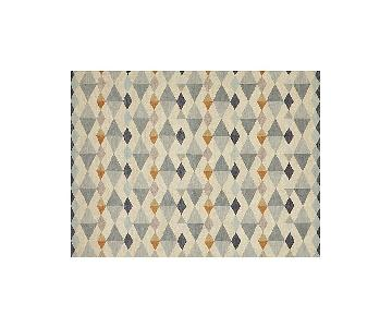 Crate & Barrel Orson Diamond Geometric Rug