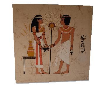 Large Mid-Century Mod Egyptian Art