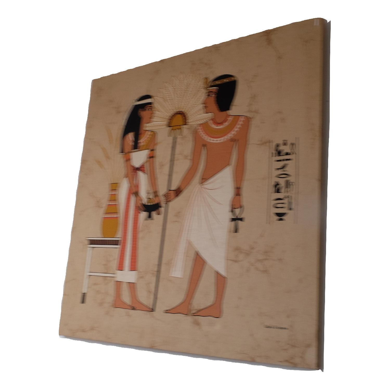 Large Mid-Century Mod Egyptian Art-0