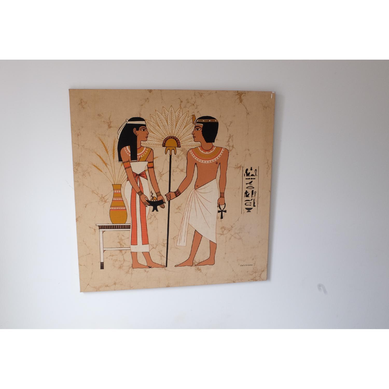 Large Mid-Century Mod Egyptian Art-1
