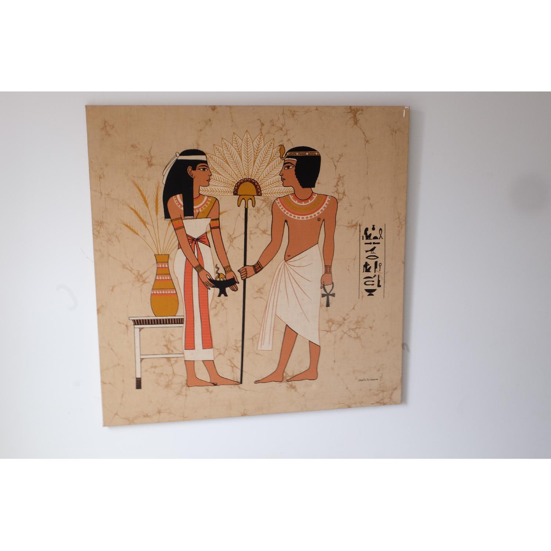 Large Mid-Century Mod Egyptian Art-2