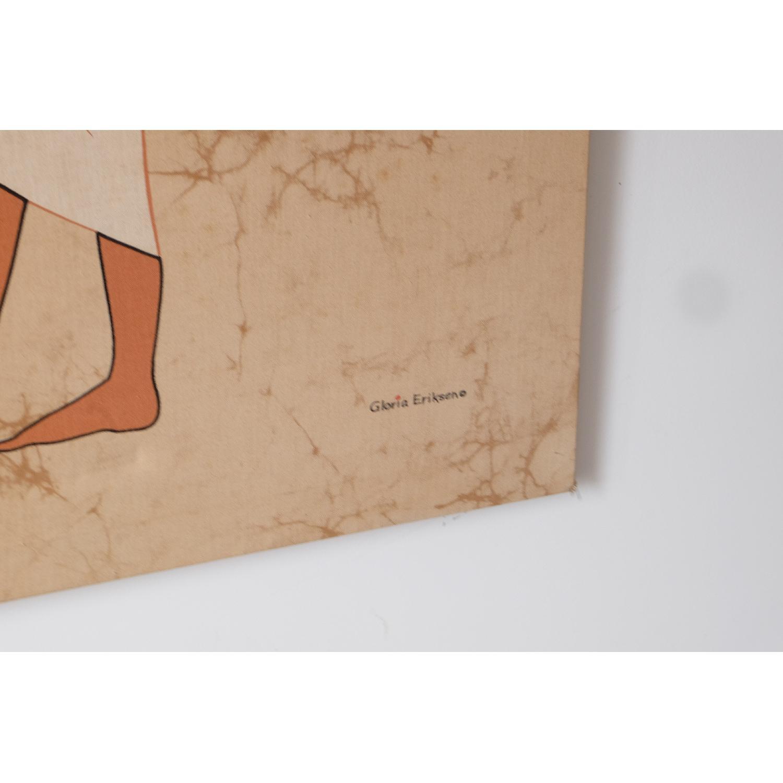 Large Mid-Century Mod Egyptian Art-3