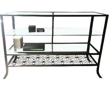 IKEA 4 Shelf Glass TV Stand/Table