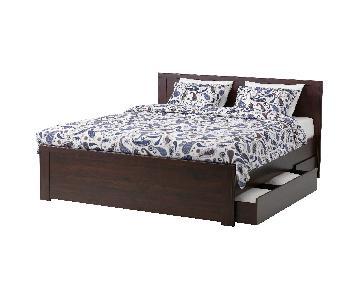 Ikea Brusali Queen Bed Frame