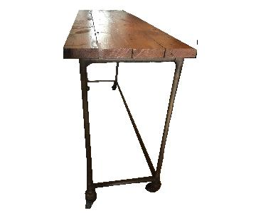 Antique Industrial Loft Rustic Kitchen Island/Table