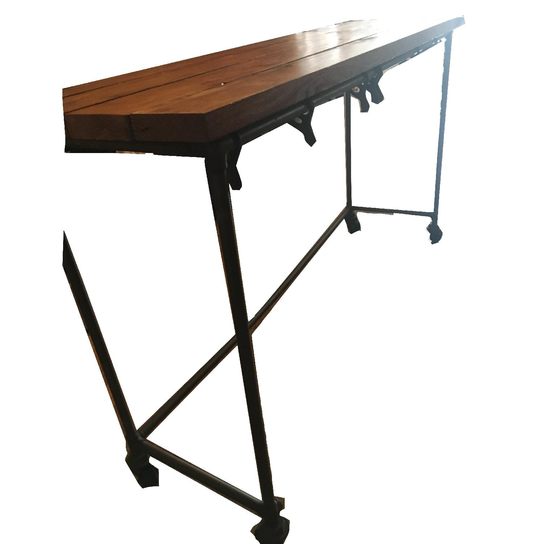 Antique Industrial Loft Rustic Kitchen Island/Table - image-1
