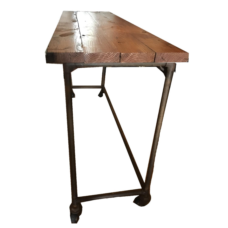 Antique Industrial Loft Rustic Kitchen Island/Table - image-3