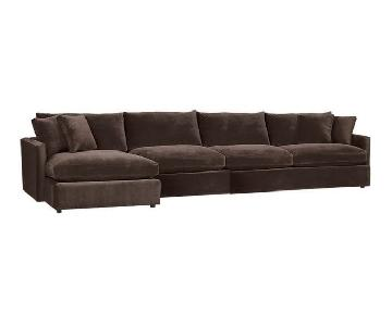 Crate & Barrel Lounge 3 Piece Sectional Sofa