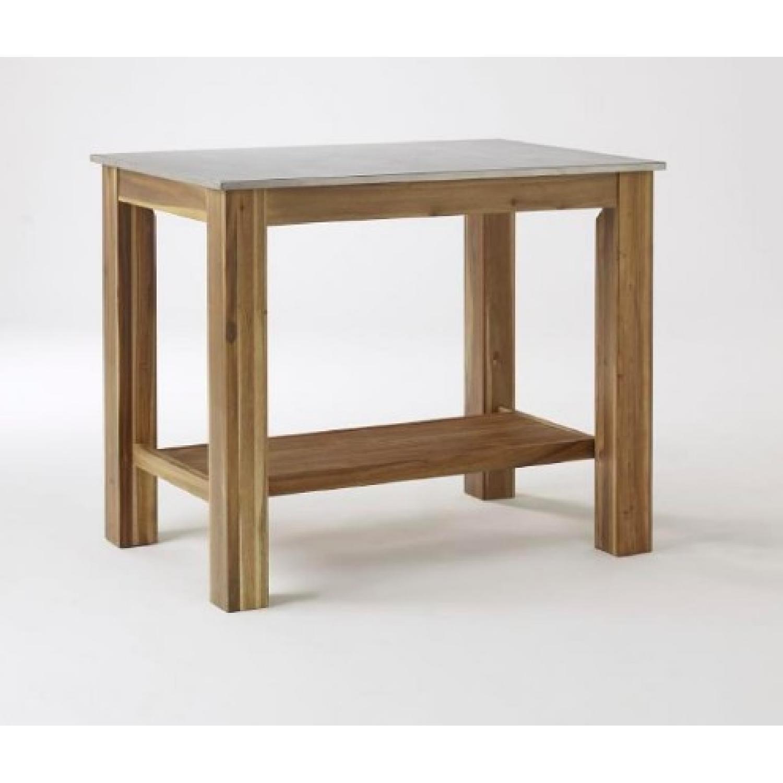 West Elm Rustic Kitchen Square Table - image-1
