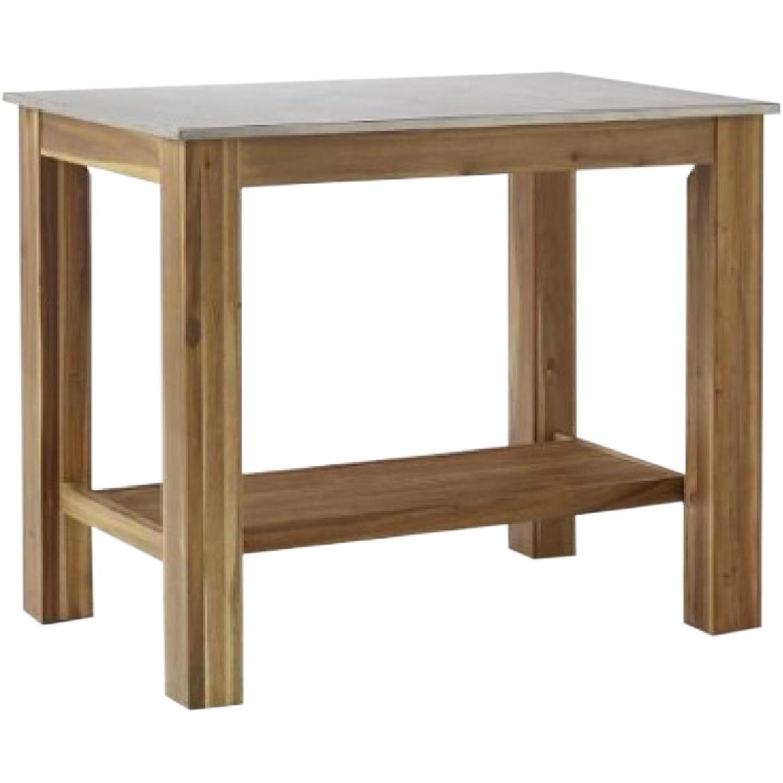 West Elm Rustic Kitchen Square Table - image-0