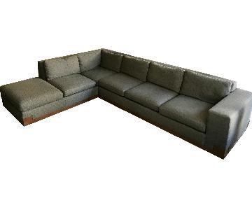 Elite Leather Company Grey 2-Piece Sectional Sofa