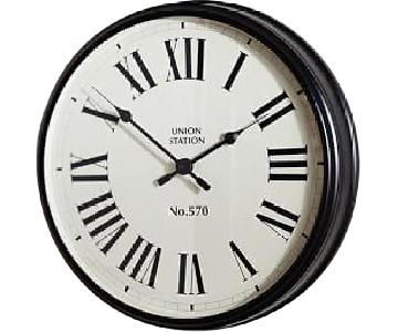 Pottery Barn Union Station Wall Clock