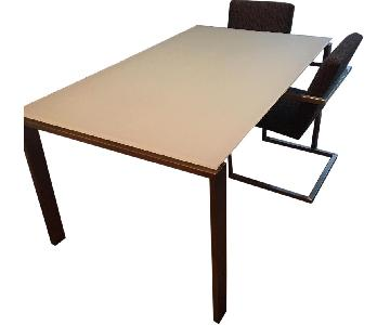 Room & Board Rand Table w/ 4 Lira Chairs