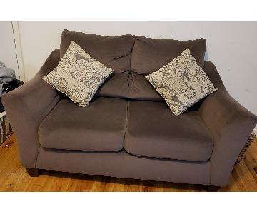 Ashley Sweet Cocoa Brown Loveseat