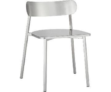 CB2 Fleet Brushed Nickel Dining Chairs