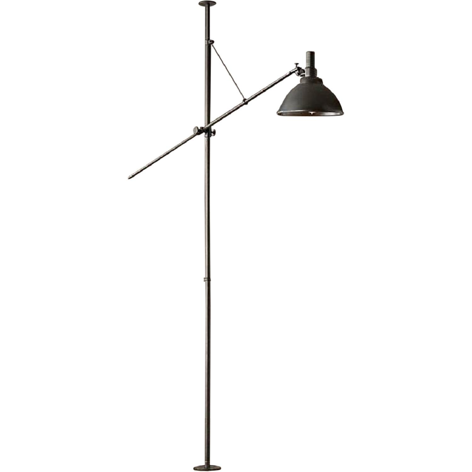 Restoration Hardware French Factory Boom Lamp in Iron