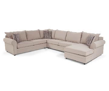 Bob's Venus 4 Piece Full Sleeper Sectional Sofa