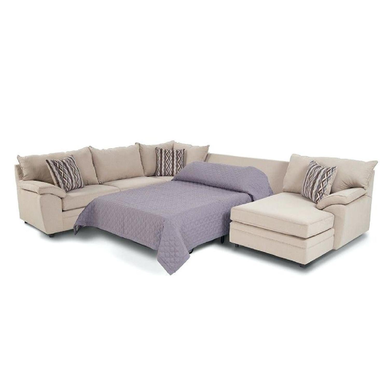 ... Bobu0027s Venus 4 Piece Full Sleeper Sectional Sofa 0 ...