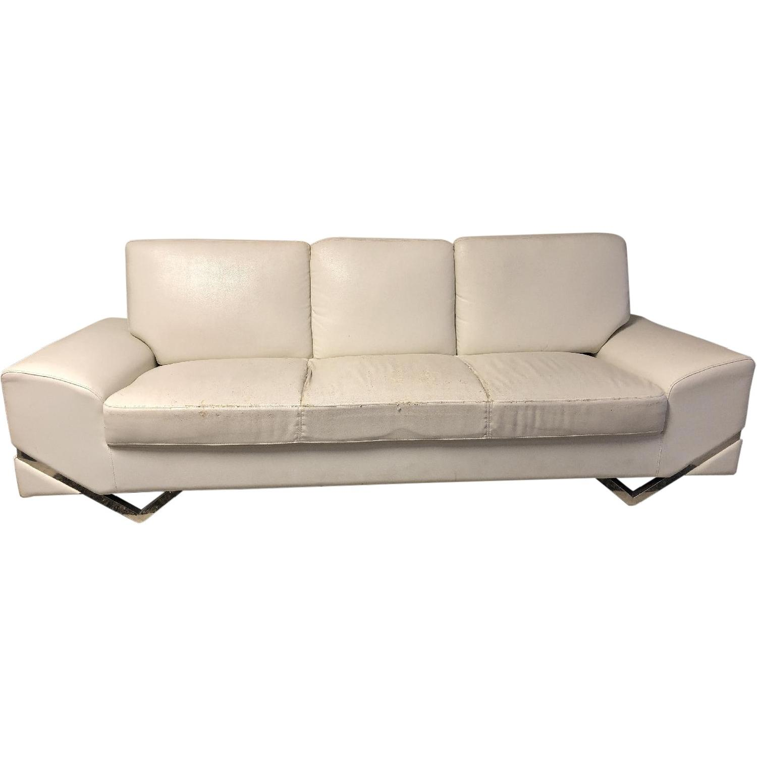 American Eagle Furniture Faux Leather 3 Seater Sofa ...