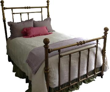 Farrell Antique Queen Size Brass Bed