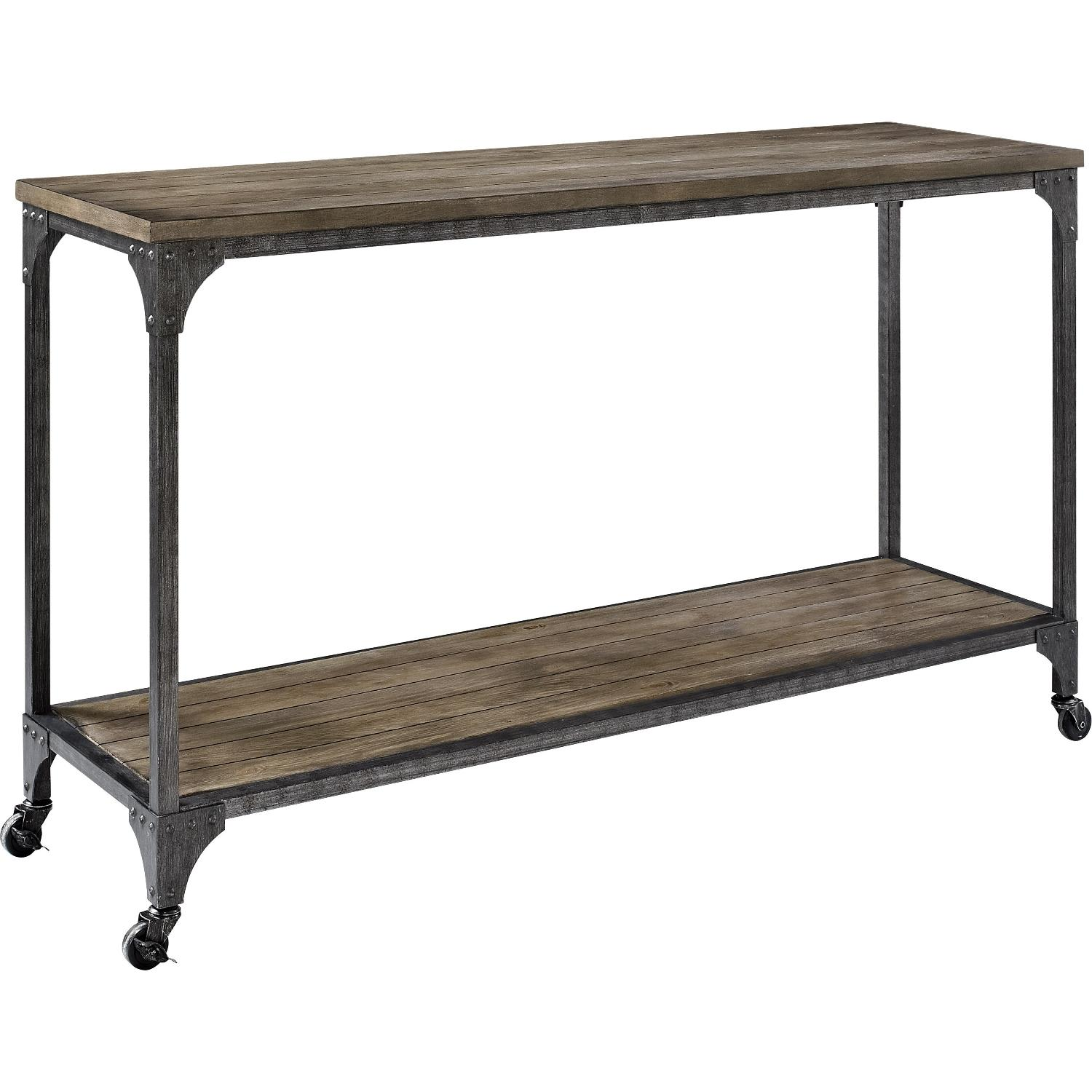 Avenue Green Mitchell Wood Veneer Console Table ...