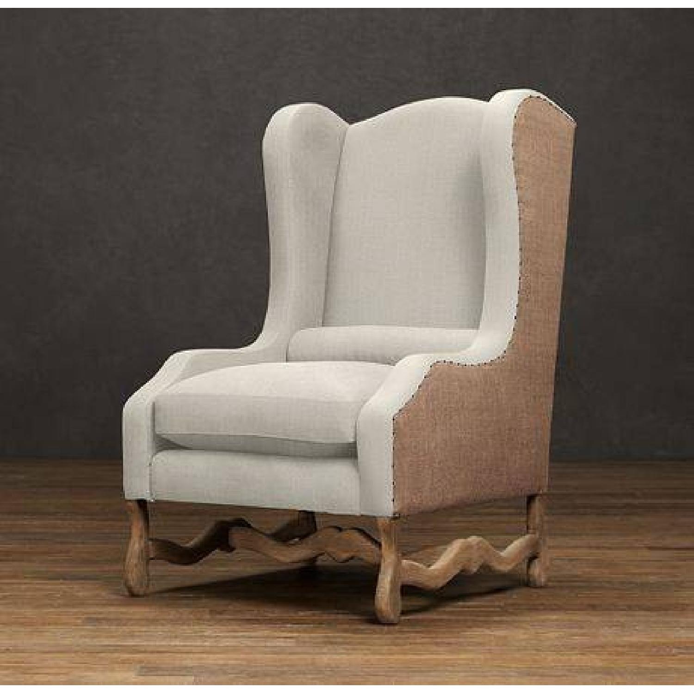 Restoration Hardware Os De Mouton Wingback Chair Aptdeco