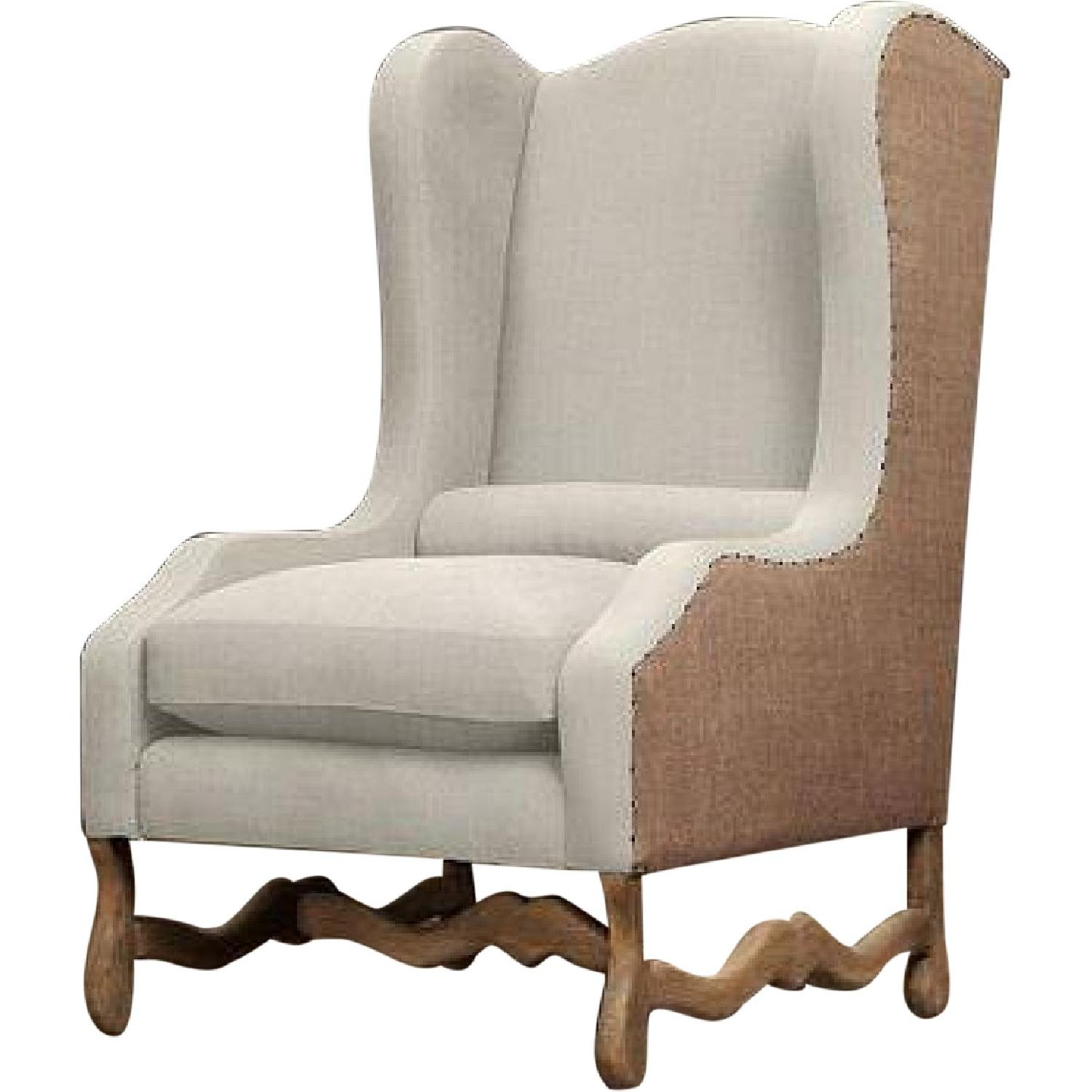 Restoration Hardware Os De Mouton Wingback Chair ...