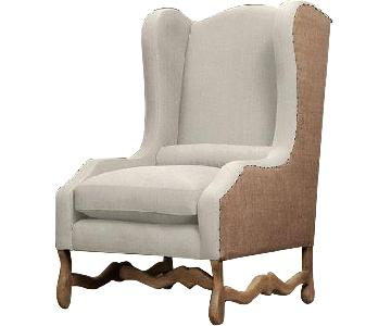 Restoration Hardware Os De Mouton Wingback Chair