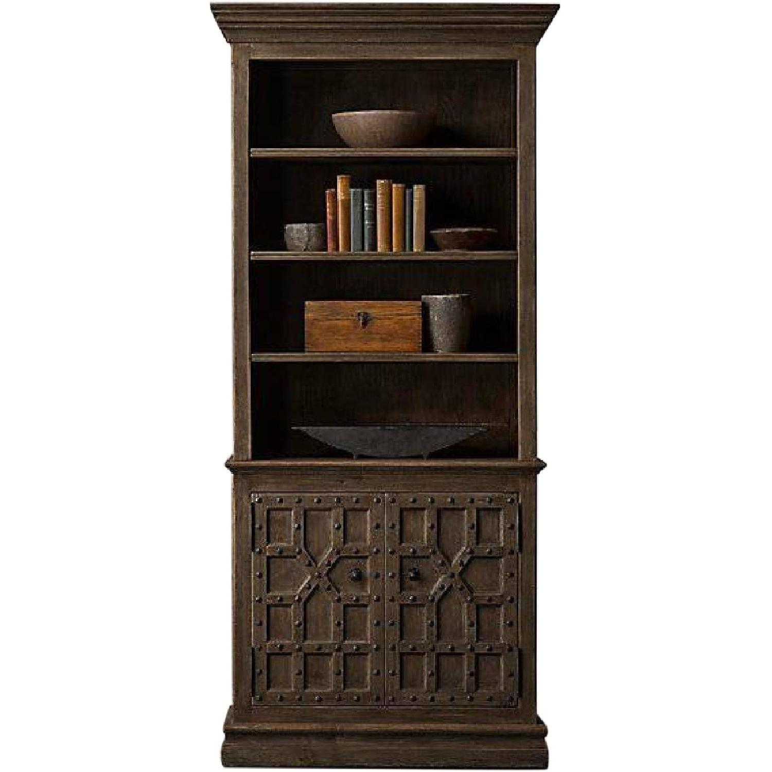 Restoration Hardware 17th C.Castell Walnut Sideboard & Hutch