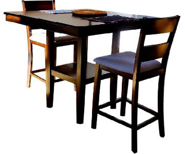 Macy's Counter Height 3-Piece Breakfast Nook Dining Set