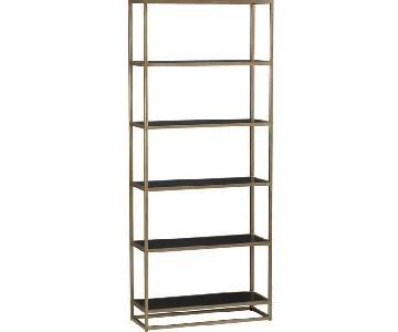 Crate & Barrel Remi Bookcases in Bronze & Black