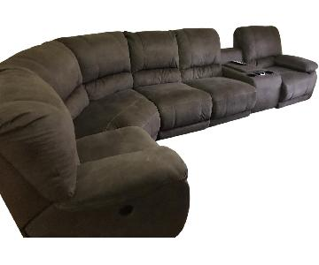 Raymour & Flanigan Power Reclining Sectional Sofa