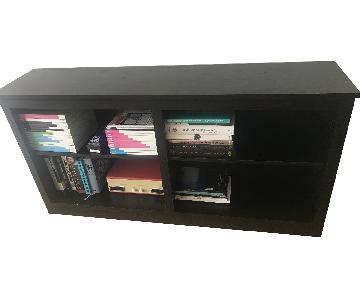 Crate & Barrel Low Black Cadence Bookcase