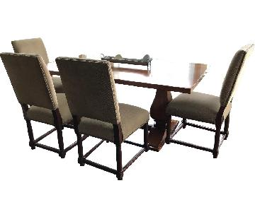 Restoration Hardware Trestle Dining Table w/ 4 Chairs