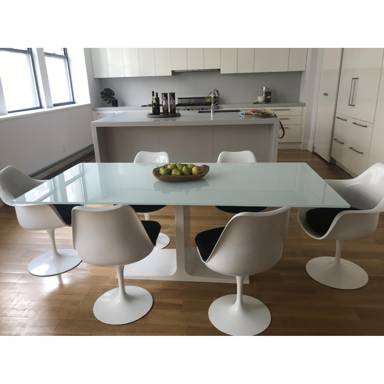 ... Conran Modern Glass Dining Table 3